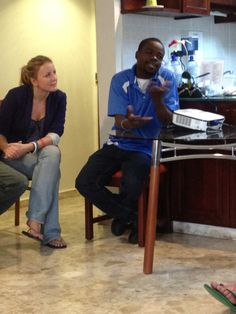 Pedro, Haiti has had type 1 #diabetes for 10 years, works with Dr Larco. He welcomes us to his diabetic world #Ayuda2012