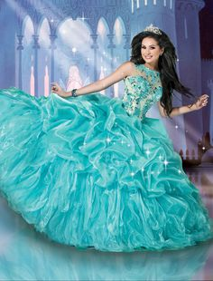 Cinderella inspired gown from Disney Royal Ball Style Number 41082 coming soon to Dresses By Russo. #dressesbyrusso #quinceanera #dress #disneyroyalball