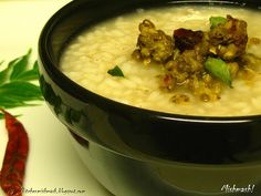 Mishmash !: Kanji & Payar – Our Comfort Food…! A traditional favourite of many Keralites.