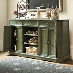 I love this console (in black). The black wouldn't pin, but if you could see it, it's beautiful (the green is nice, but just doesn't go in our house). I love Ballard Designs products!