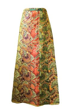 • Colourful cotton panelled wrap skirt in Thai cotton. This versatile…