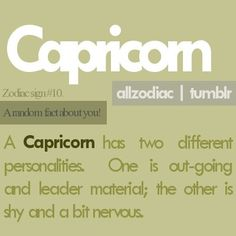 A Capricorn has two different personalities-True Capricorn Aquarius Cusp, All About Capricorn, Capricorn Quotes, Zodiac Signs Capricorn, Capricorn And Aquarius, My Zodiac Sign, Astrology Signs, Zodiac Facts, My Horoscope