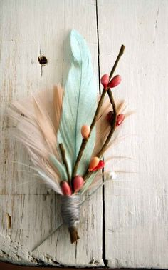Or feathers and berries. | 42 Lovely Ideas For A Cold-Weather Wedding