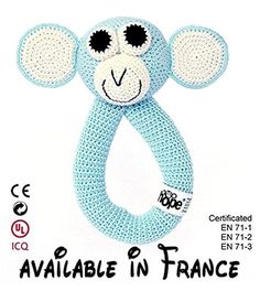 Monkey Turquoise. Jouet au crochet.  #Guild Product #GUILD_TOYS_AND_GAMES