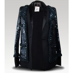 Couture Clothing - $9050 11a New Chanel Runway Sequin Blazer Jacket 36 CC Buttons Rare | MALLERIES