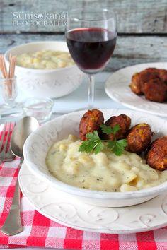 Sünis kanál: Korianderes krumplifőzelék póréhagymás fasírttal