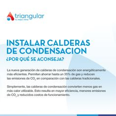 Por que se aconseja instalar calderas de #condensacion