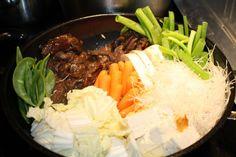 Mom's Sukiyaki: Japanese Beef and Vegetables Hot Pot for #SundaySupper