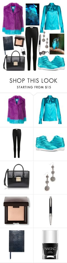 """""""18.11.2017"""" by chrissy6 ❤ liked on Polyvore featuring Alberta Ferretti, Dolce&Gabbana, Object Collectors Item, Reebok, Furla, Lulu Frost, Laura Mercier, Montblanc, Smythson and Nails Inc."""