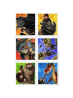 How to Train Your Dragon Stickers (4 Sheets)