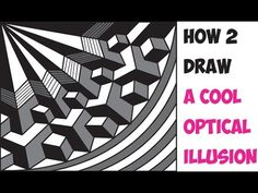 How to Draw Cool 3D Optical Illusions Drawing Trick Easy Step by Step Dr...