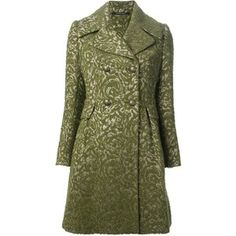 TAGLIATORE jacquard double breasted coat