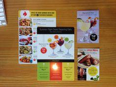 Promo Materials // #restaurantmarketing #johnnycarinos #menudesign