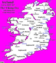 The Vikings in Ireland Ireland's History in Maps (800 AD)