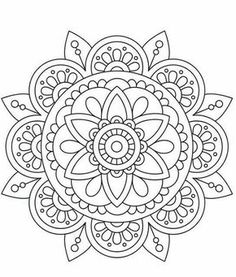 31 Ideas For Drawing Ideas Mandalas Art Therapy – Tattoo Pattern Coloring Book Art, Mandala Coloring Pages, Colouring, Mandala Art Lesson, Mandala Drawing, Coloring Pages For Grown Ups, Adult Coloring Pages, Doodle Patterns, Doodles Sharpie