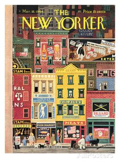 The New Yorker Cover - March 18, 1944 Regular Giclee Print di Witold Gordon su AllPosters.it