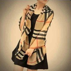 Fashion scarf! Plaid chiffon - NEW! Looks just like burberry :) Accessories Scarves & Wraps