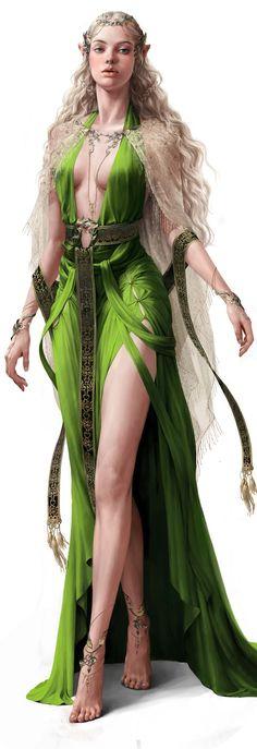 personagem principal Gaevaudania (deusa magia)