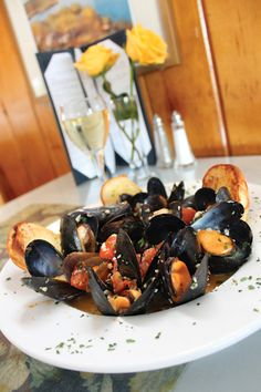 Steamed Mussels at The Dolphin, Barnstable