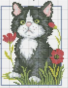 Diy Crafts - Kitten - counted cross-stitch kit - Luca-S Funny Cross Stitch Patterns, Cat Cross Stitches, Cross Stitch Love, Cross Patterns, Cross Stitch Animals, Counted Cross Stitch Kits, Cross Stitch Flowers, Cross Stitch Charts, Cross Stitch Designs