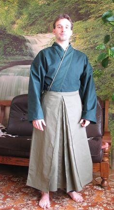SOURCE: JAPAN / Japanese happi and hakama pants