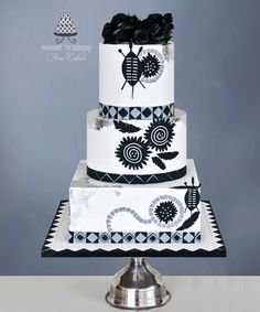 Zulu Wedding - cake by Sandy Lawrenson - Sweet 'n Sassy Beautiful Cakes, Amazing Cakes, Zulu Wedding, Geometric Cake, Music Cakes, Red And White Weddings, Wedding Cake Inspiration, Wedding Ideas, Themed Wedding Cakes