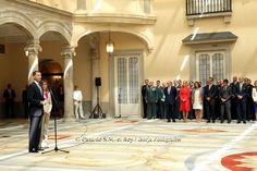 29 JULY 2014 Recepción a una representación de los miembros de las Fuerzas y Cuerpos de Seguridad del Estado, Policía Local y Servicios de Emergencia del Ayuntamiento de Madrid participantes en los dispositivos con ocasión de los actos de Proclamación de S.M. el Rey.