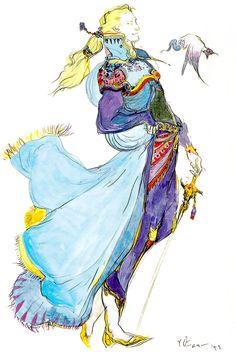 Edgar Roni Figaro - Final Fantasy VI | Yoshitaka Amano