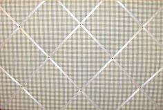 Extra Large Laura Ashley Green Gingham Hand Crafted Fabric Notice / Pin / Memo / Memory Board