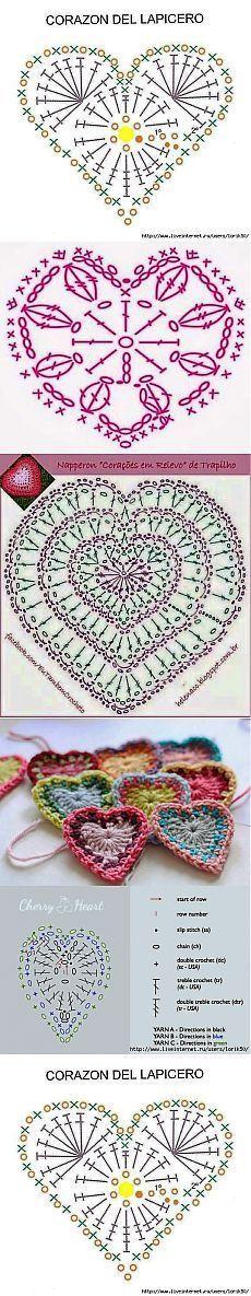 32 Ideas For Crochet Heart Motif Simple Freeform Crochet, Crochet Diagram, Crochet Chart, Irish Crochet, Crochet Motif, Crochet Doilies, Crochet Flowers, Crochet Lace, Simple Crochet