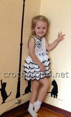 Cute ruffle dress ♥LCK♥ with diagram