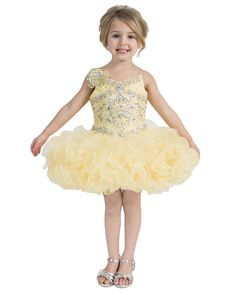 Sweet Kids Party Organza Short Sleeve Infant Flower Girls Beaded Mini Cupcake Baby Glitz Girls Pageant Dresses 2016 New Cheap Pageant Dresses For Girls Childrens Party Dresses From Weddingdress_2016, $72.37| Dhgate.Com