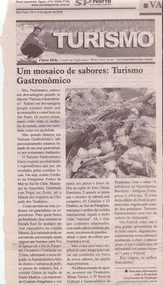 Turismo Gastronômico: um mosaico de sabores – Publicado em 10 de agosto de 2006
