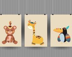 Bunte Tierbilder fürs Kinderzimmer lassen die Herzen der Kleinen höher schlagen. #kinderzimmer #babyzimmer #tierbilder #wandgestaltung #diy