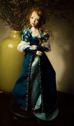 ''Beatrice'' Art doll Ooak by Romantic Wonders Ooak Dolls, Art Dolls, Romantic, Unique, Creative, Scale, Dresses, Furniture, Fashion