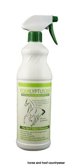 Equilyptus365 Protection for your horse stable yard and transport When sprayed on the affected area it encapsulates odour compounds.