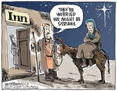 Editorial cartoons: No room at the inn