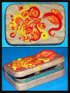 Another one of my Altoids tins covered by polymer clay.