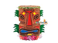 Add a tropical touch to your next luau with our Tiki Pinata! This Tiki Pinata resembles traditional Hawaiian and Polynesian Tiki carvings and makes a colorful a Luau Party Decorations, Luau Theme Party, Pinata Party, Tiki Party, Luau Party Games, Luau Centerpieces, Party Themes, Party Favors, Hawaiian Party Supplies