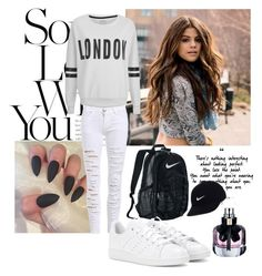 """""""My style"""" by minela-a ❤ liked on Polyvore featuring ONLY, NIKE, adidas and Yves Saint Laurent"""