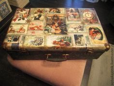 """Купить Чемодан для хранения ёлочных игрушек """"Merry Christmas"""" - чемодан, чемоданчик, Новый Год, для хранения"""