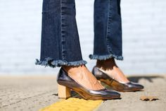 Update your metallic shoe with a stacked heel style. www.stylestaples.com.au