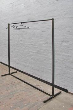 Wardrobe for a walk-in steel tube wardrobe Folding Clothes Rack, Diy Clothes Rack, Steel Furniture, New Furniture, Shabby Chic Slipcovers, Wooden Christmas Crafts, Pantone Greenery, Home Furnishing Stores, Garment Racks
