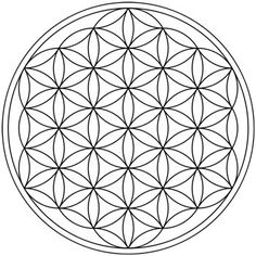 Also implied is the Flower of Life which appears when we notice that six of the triangle edges point to 12 of the double layered lotus petal...