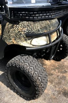 Customize your golf cart one accessory at a time. #customgolfcartaccessories #customizedgolfcart #customgolfcartproducts Custom Golf Cart Bodies, Custom Golf Carts, Golf Cart Wheels, Custom Body Kits, Golf Cart Accessories, Fender Flares, Monster Trucks, Products, Gadget