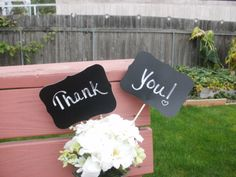 2 Wedding Chalkboards on a Stick 5 x 7 Photo Prop by LetsTalkChalk, $12.00