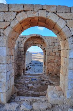 *AVDAT,ISRAEL~The desert city on the Incense route. The gate opens to the north area outside of the city.