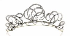 Diamond tiara, 1900 with oodles of whimsy