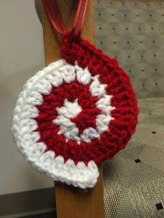 Peppermint Spiral Ornament - Crochet creation by Alana
