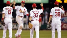 Game 1 of the NLDS is in the books!  Behind the outstanding pitching of Adam Wainwright, the Cards defeat the Pirates at St. Louis, 9-1. October 3, 2013.